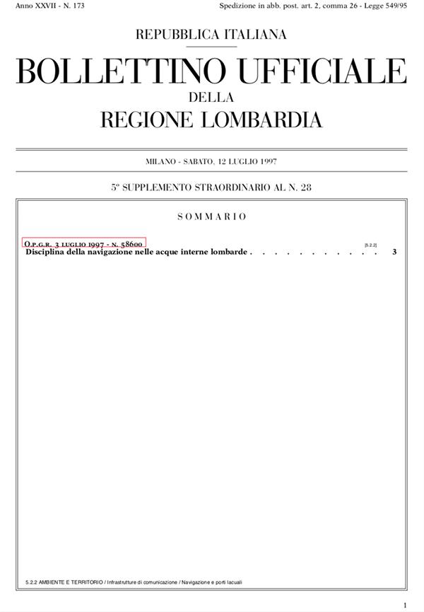 Scuola Nautica Stucchi - Regolamento Regione Lombardia